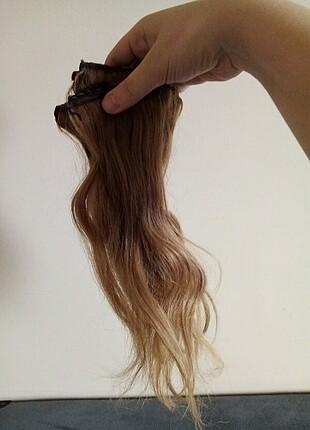 5 parca çıtçıt gercek saç