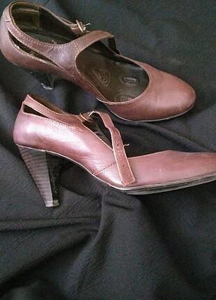 38 Beden kahverengi Renk Topuklu ayakkabı