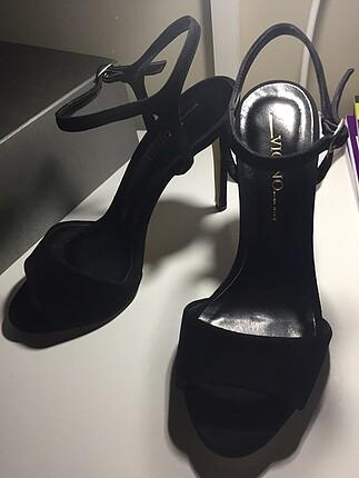 Vıcıno siyah topuklu ayakkabı