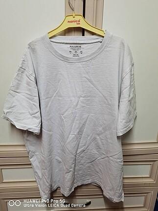 Pull&bear düz beyaz t-shirt unisex