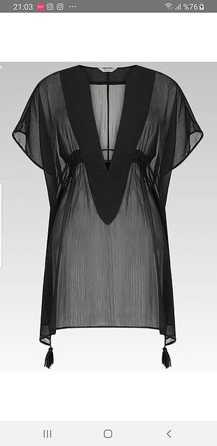 Penti siyah pareo plaj elbisesi