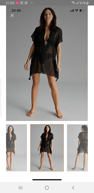 Penti Penti siyah pareo plaj elbisesi