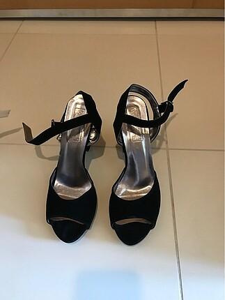 Topuklu ayakkabı süet 10 cm 1 kez giyildi