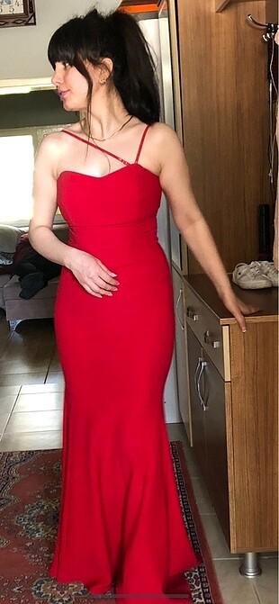 Kırmızı balık abiye,Nişan elbisesi,Kına Albisesi