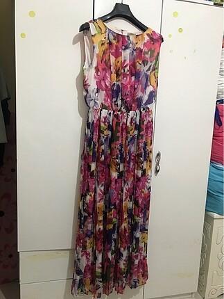 LC Waikiki Beli lastikli uzun yazlık elbise