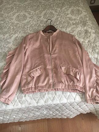 Pembe baharlık ceket mont