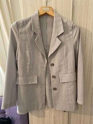 Camel düğmeli blazer ceket