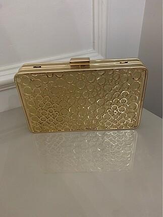 Gold abiye çanta
