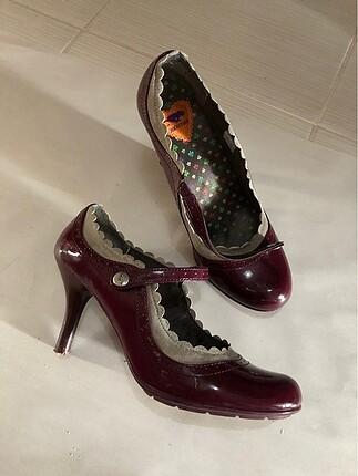 Bordo topuklu ayakkabı