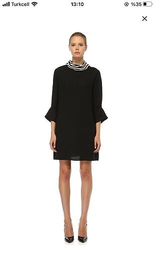 Beymen Collection kürk yaka elbise
