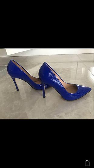 36 Beden mavi Renk İnci Stiletto