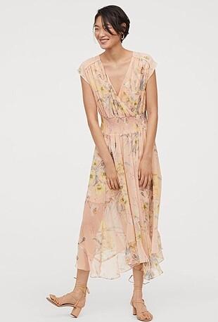 H&M çiçek desenli elbise