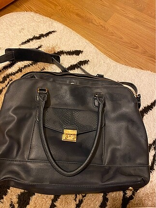 Accessorize koyu laciver çanta