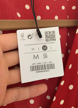 Kırmızı Beyaz Puantiyeli Mini Elbise