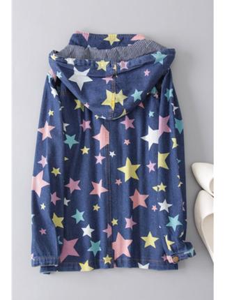 Yıldızlı kot ceket