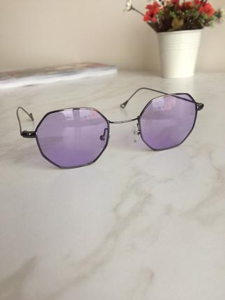 Retro mor sekizgen gözlük