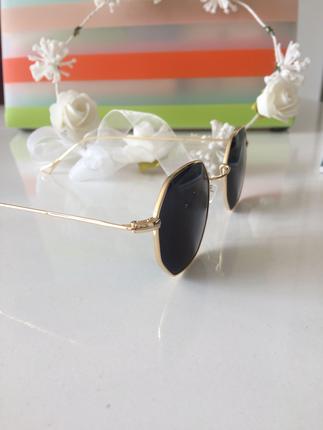 Moda altıgen siyah gözlük