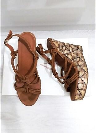 Koton Dolgu Topuk Hasır Ayakkabı