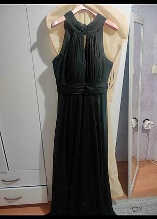 Nihan Siyah simli gece elbisesi
