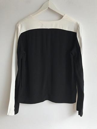 Siyah beyaz bluz