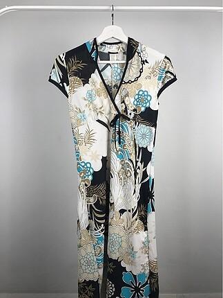Desenli Kimono Elbise