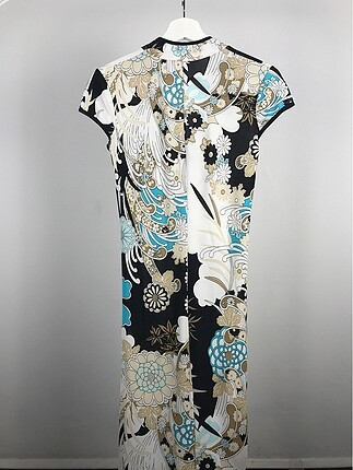 xs Beden Desenli Kimono Elbise