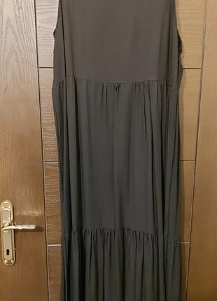 L beden siyah yazlık penye elbise