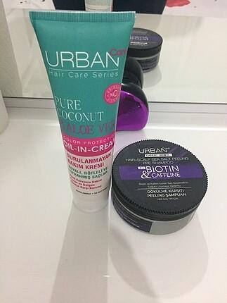 Urbancare peeling şampuan ve saç bakım kremi
