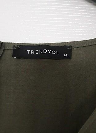 42 Beden Trendyol Haki Elbise