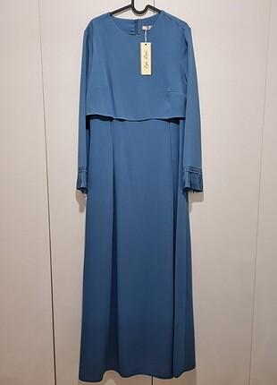 İndigo mavi elbise