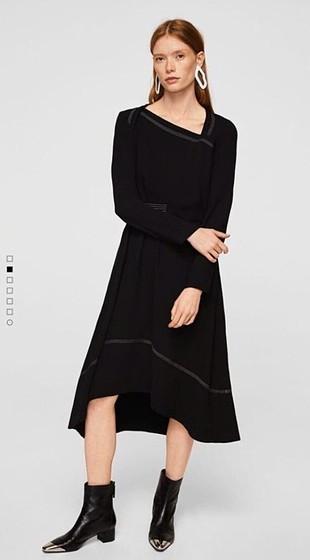 Mango asimetrik şık elbise