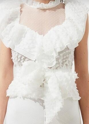 xs Beden beyaz Renk Beyaz bluz