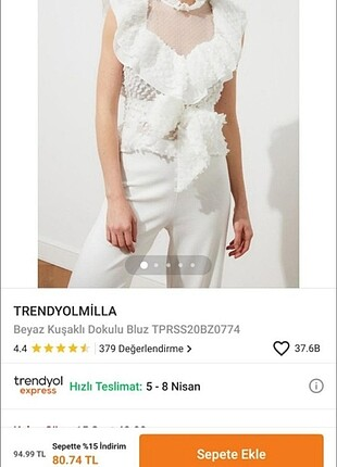 Trendyol & Milla Beyaz bluz