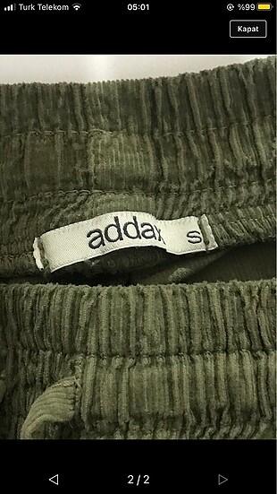 Addax haki kadife kargo pantolon