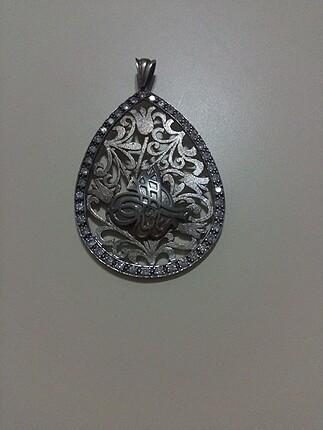 Osmanlı tuğrası gümüş kolye ucu