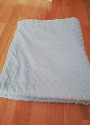 Mavi renk nohut bebek battaniyesi