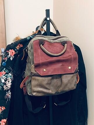 Retro tarz sorunsuz sırt çantası