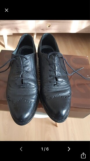 Kemal tanca marka siyah klasik oxford ayakkabı