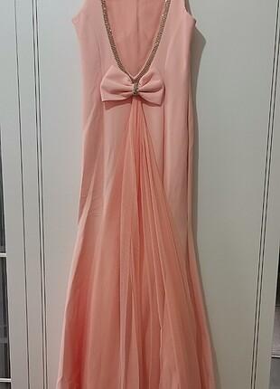 Balık pudra abiye elbise