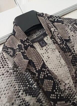 Leoparlı şifon elbise