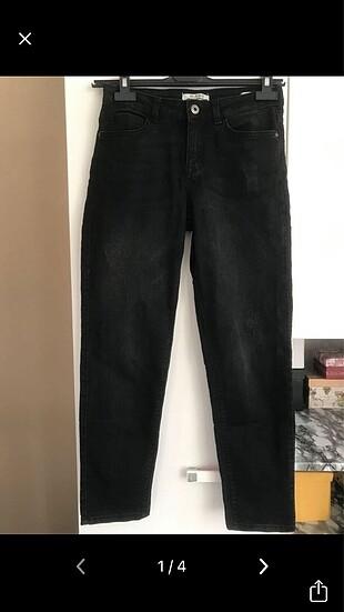 Siyah Kot Jeans