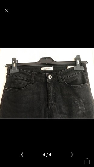 38 Beden Siyah Kot Jeans