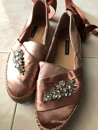 37 Beden pembe Renk Bağcıklı ayakkabı