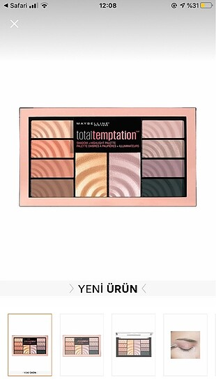 Maybelline Total Temptation Far paleti