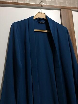 s Beden mavi Renk Tesettür ceket