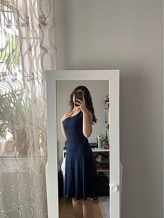 Günlük lacivert elbise