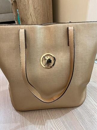 U.S Polo Assn. Gold us polo az kullanılmış omuz çantası