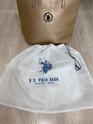 Gold us polo az kullanılmış omuz çantası