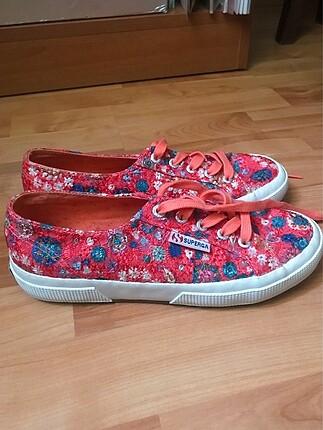 Superga Çiçekli Ayakkabı 37 Numara