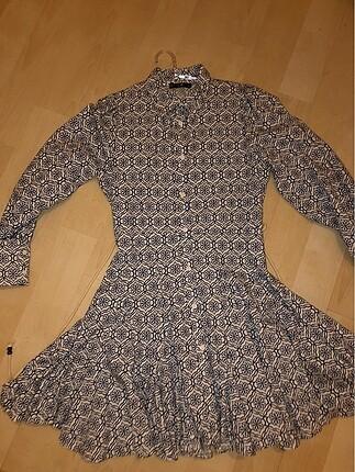 Zara Gömlek mini elbise